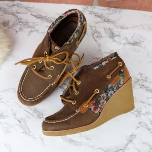 Sperry Top Sider Hadley Tapestry Wedge 7